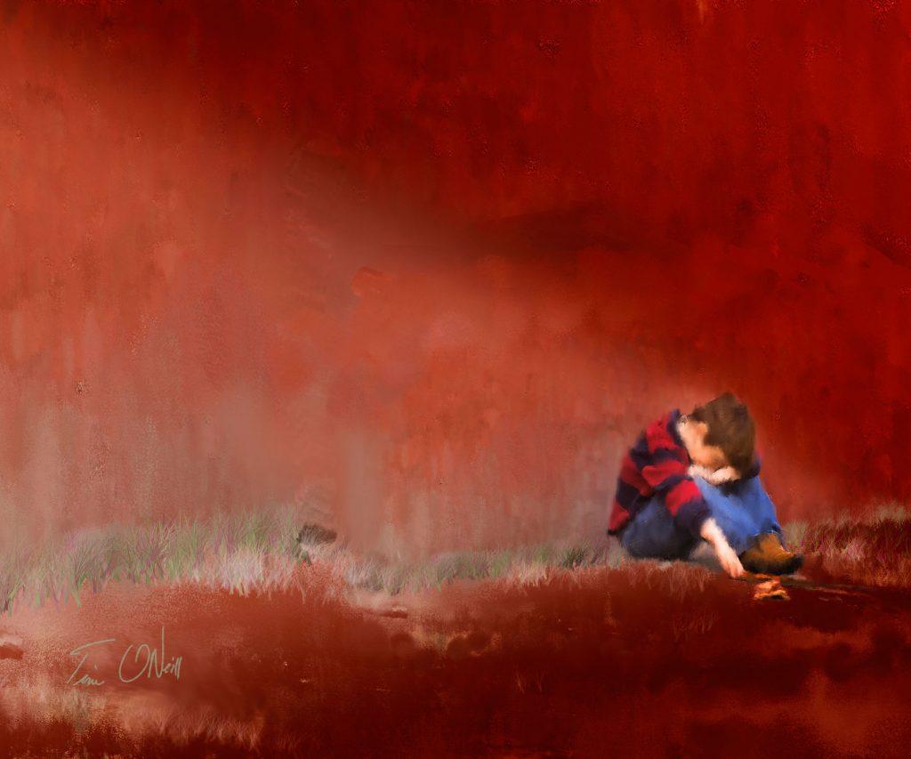 Children's Portrait by Nebraska Artist Tim ONeill
