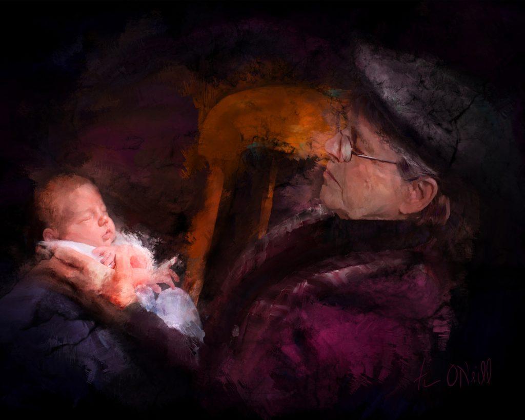 Mixed media by Nebraska Portrait Artist Tim ONeill