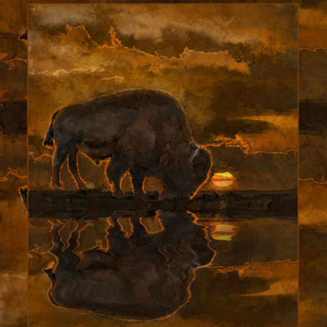 Tim ONeills impressionistic painting Bison One
